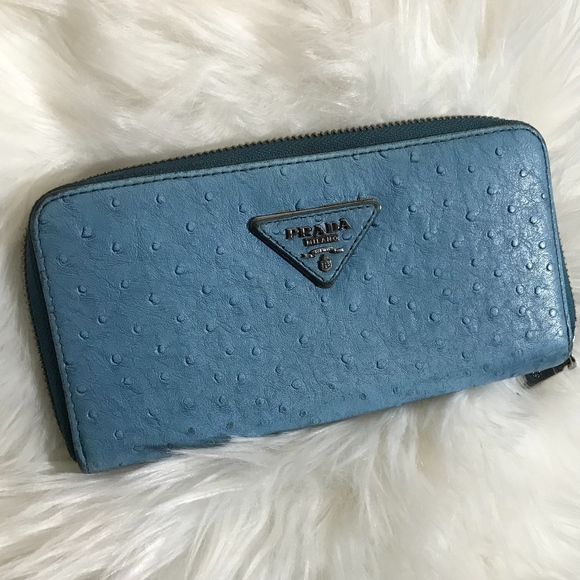 8355c8491062 Prada Light Blue Ostrich Wallet. M_5bd35b13df03074888571557